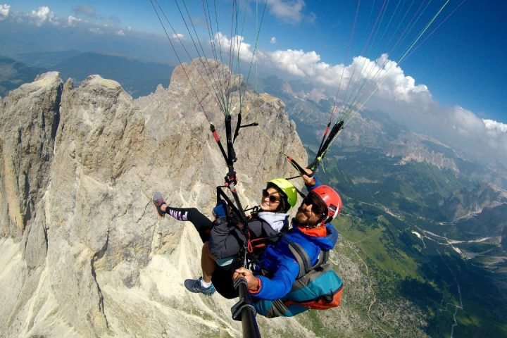 Long paraglinding flight (thermals)