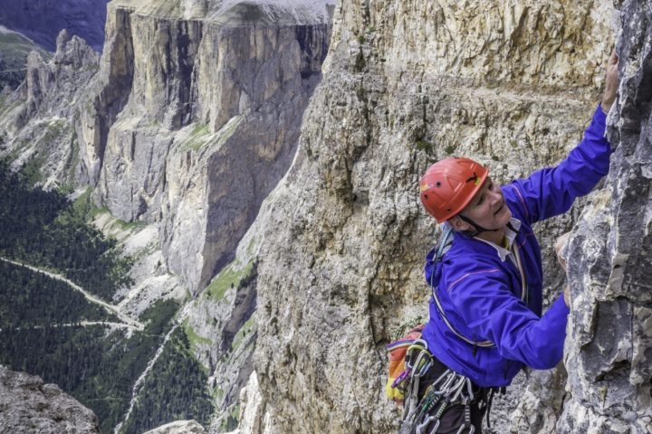 Classic and modern routes in the Dolomites