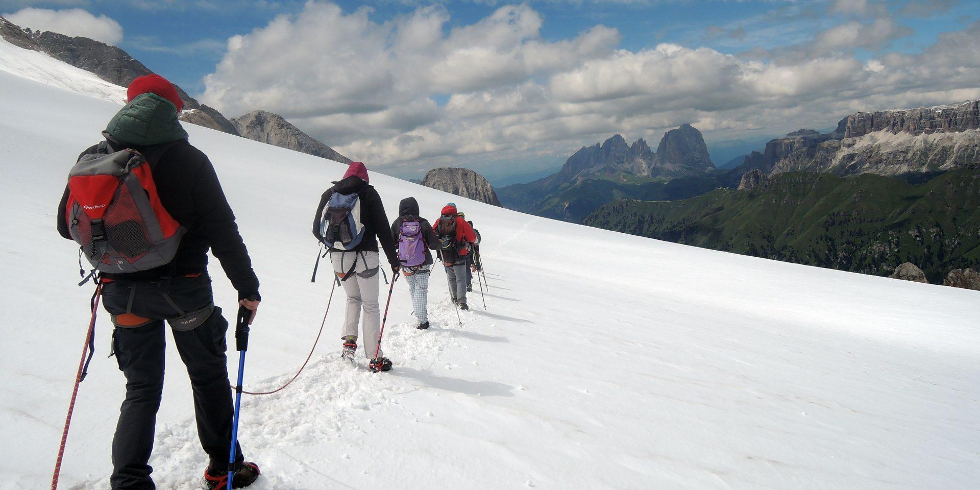 Historical tour of Marmolada Glacier with Mountain Guides