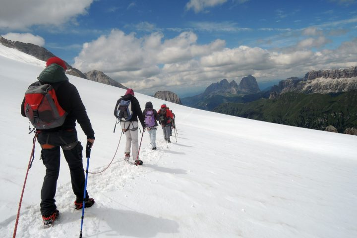 Historical tour of Marmolada Glacier with Mountain Guides