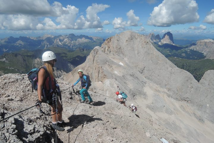 West Ridge via ferrata on Marmoalda in one day