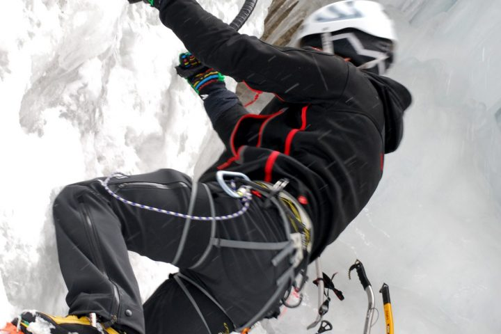 Climbing on the most exciting and classic ice falls in the Dolomites