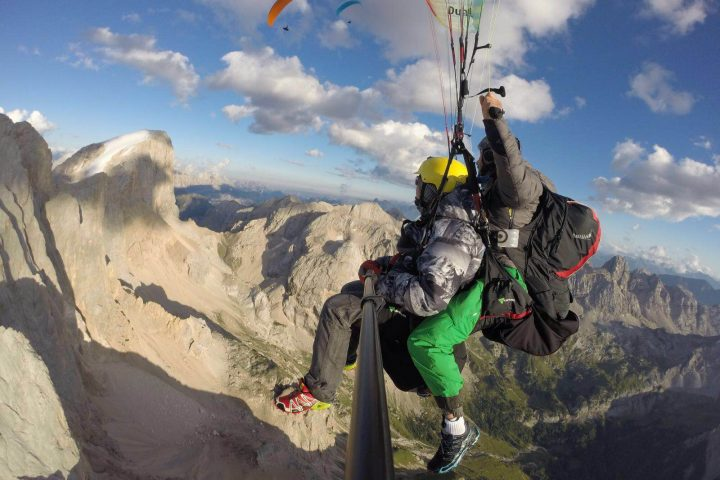 Long paraglinding flight (thermals)