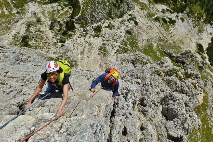 My first climbing route with the Mountain Guides