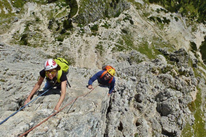 La mia prima via d'arrampicata con le Guide Alpine
