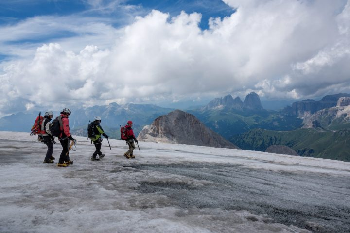 Normal route of Marmolada with Mountain Guides