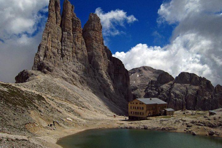 At the foot of torri del vajolet – rifugio re alberto