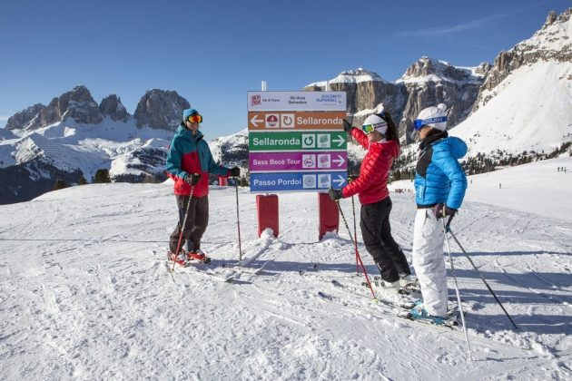 Sci accompagnato nel comprensorio del Dolomiti Superski