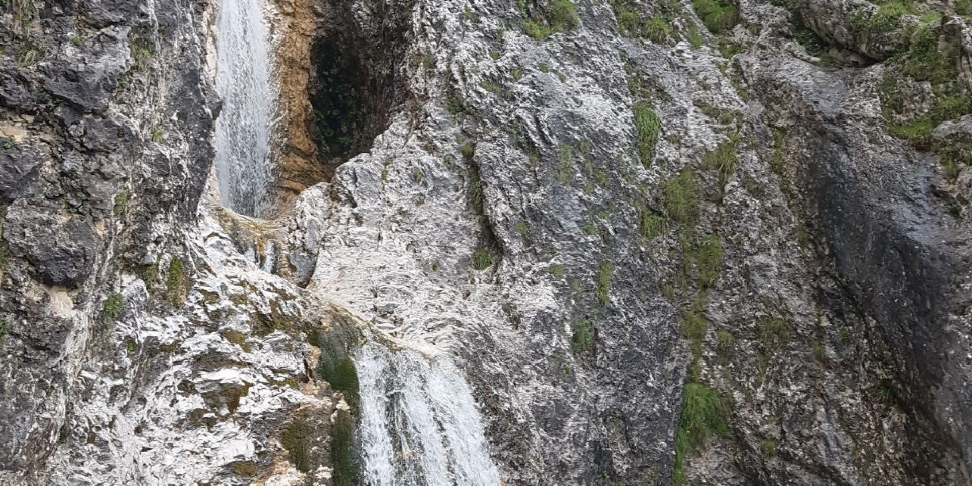 The Sella waterfalls with panoramic aperitif