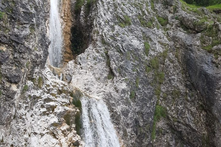 The Sella and Pordoi waterfalls
